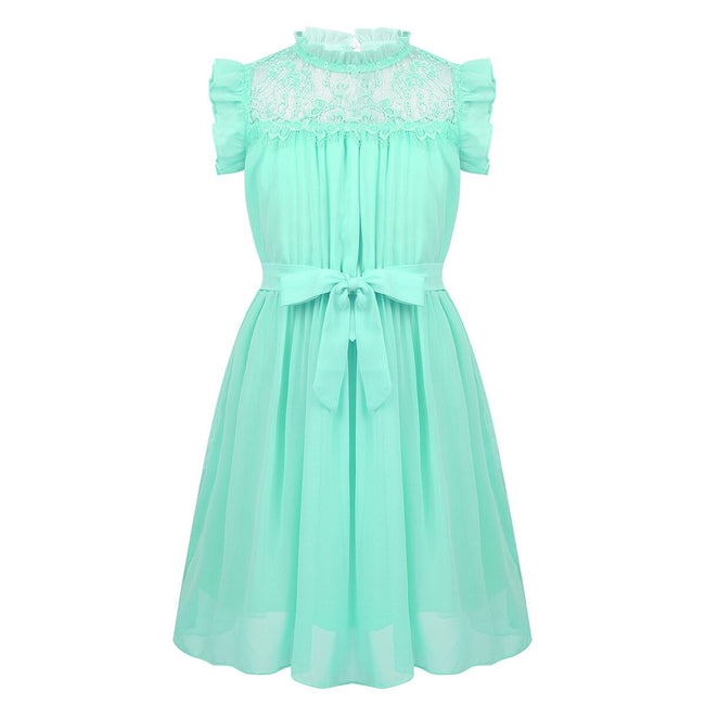 Girls green party dress for 4-14 year olds-Fabulous Bargains Galore