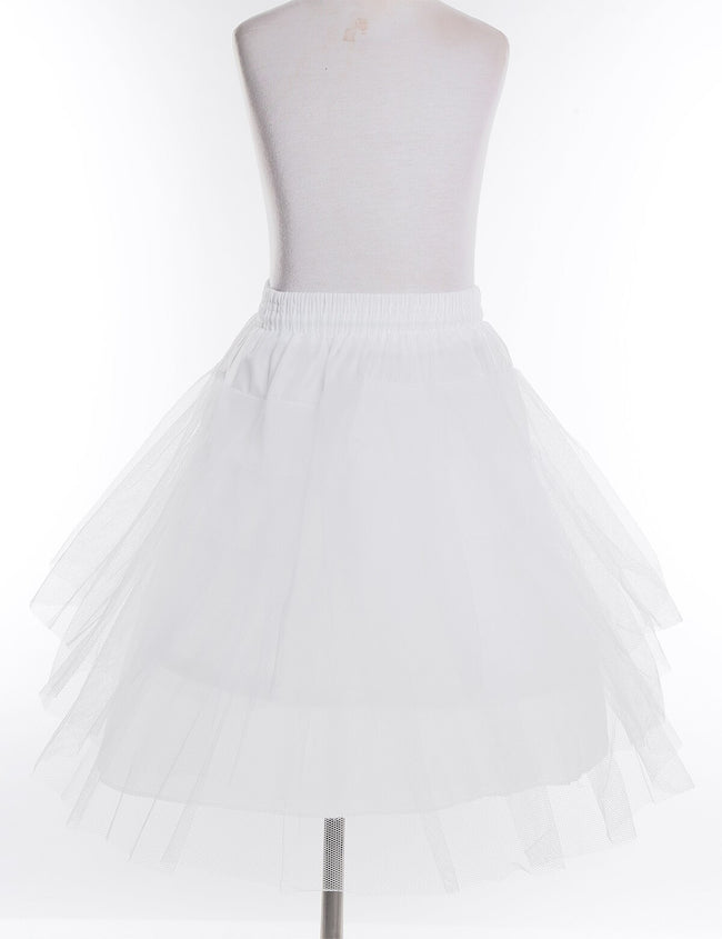 Girls net petticoat in white with drawstrings-Fabulous Bargains Galore