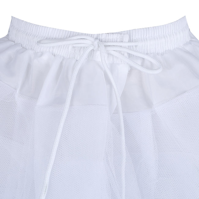 Girls tulle petticoat in white with drawstrings-Fabulous Bargains Galore