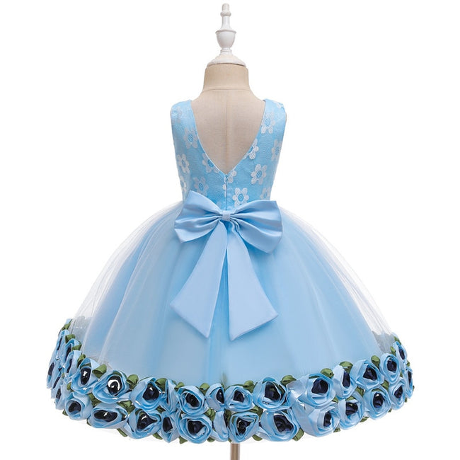 Girls blue flower dress up to age 5 years-Fabulous Bargains Galore