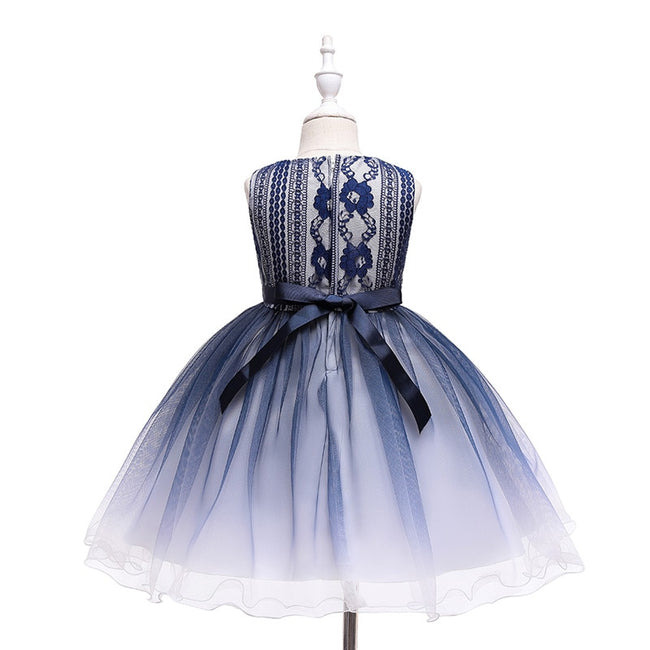 Girls blue party dress-Fabulous Bargains Galore