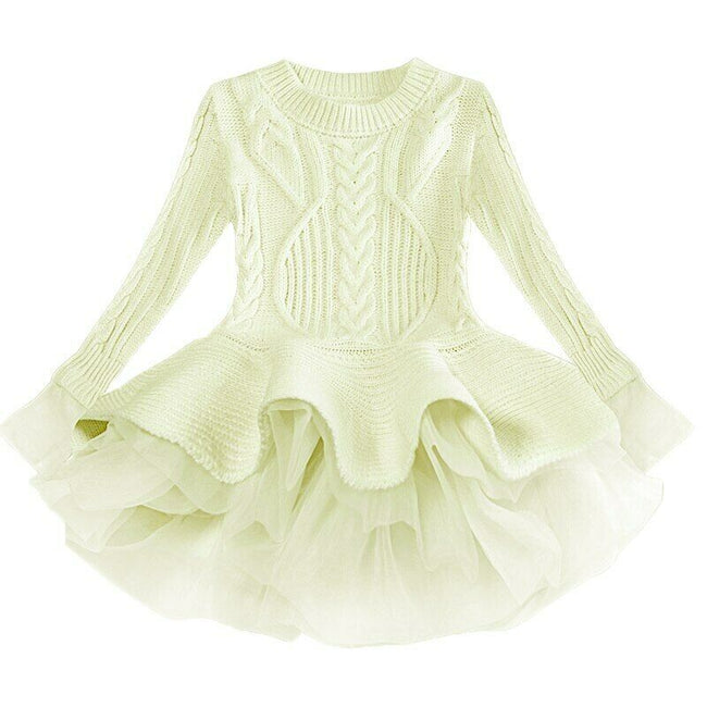 Girls green sweater dress up to age 7 years-Fabulous Bargains Galore