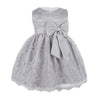 Girls grey lace dress up to 18 months
