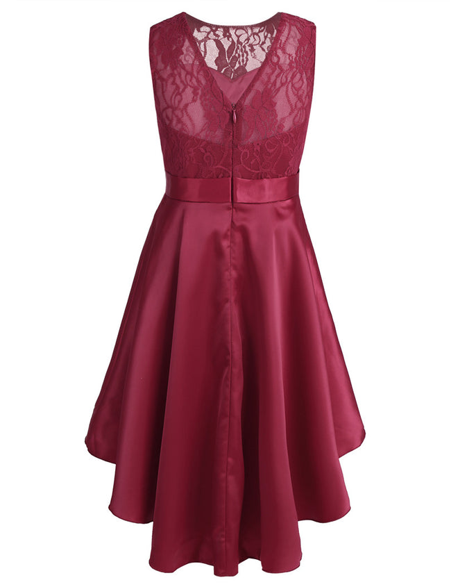 Girls red satin dress up to age 14 years-Fabulous Bargains Galore