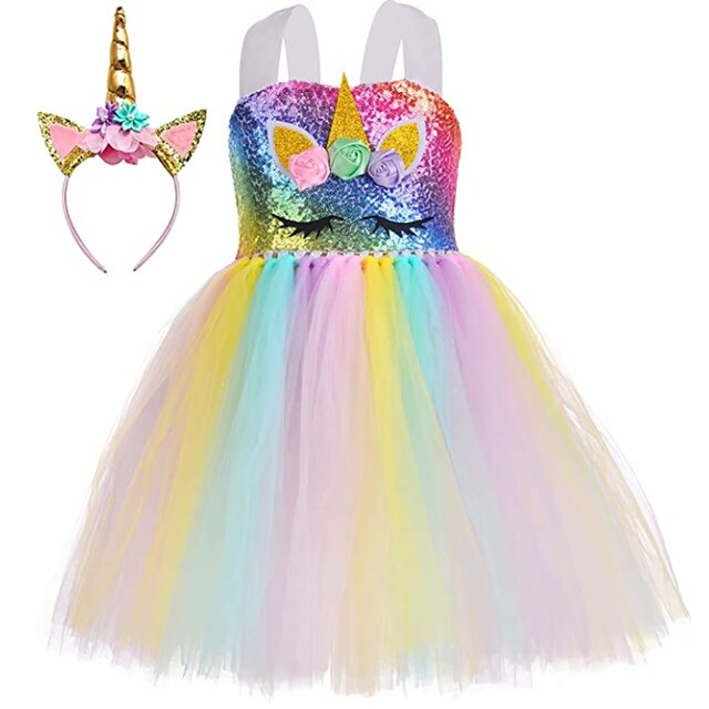 Sparkly unicorn dress up to age 12 years-Fabulous Bargains Galore