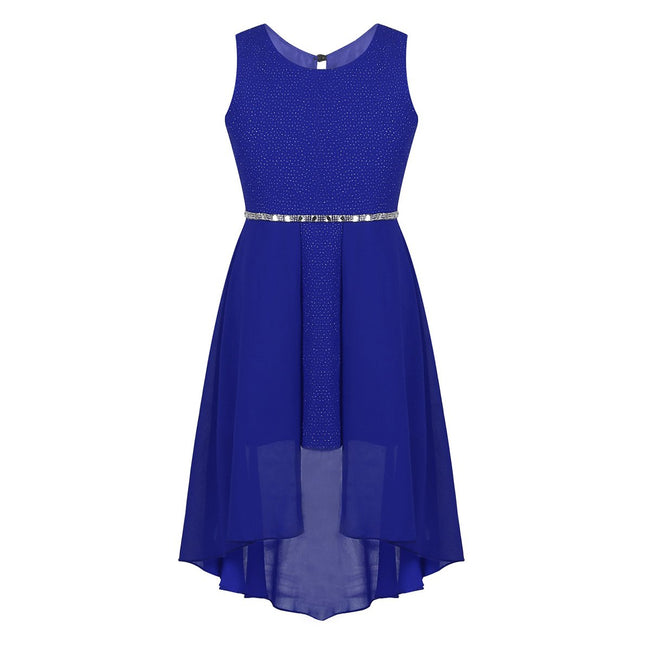 Sparkly kids party wear dress for girls blue 6-14 years-Fabulous Bargains Galore