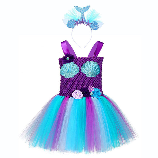 Mermaid birthday dress for girl up to age 12 years-Fabulous Bargains Galore