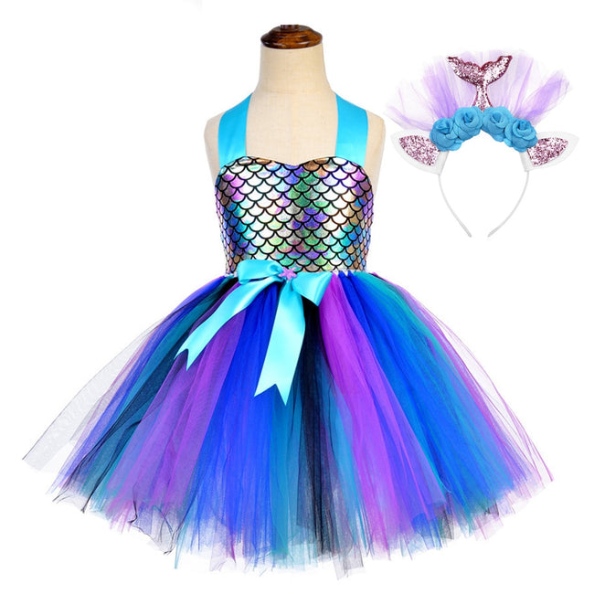 Mermaid dress for kids up to age 12 years-Fabulous Bargains Galore