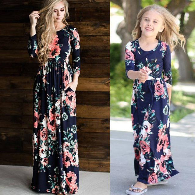 Mother daughter matching summer dresses-Fabulous Bargains Galore