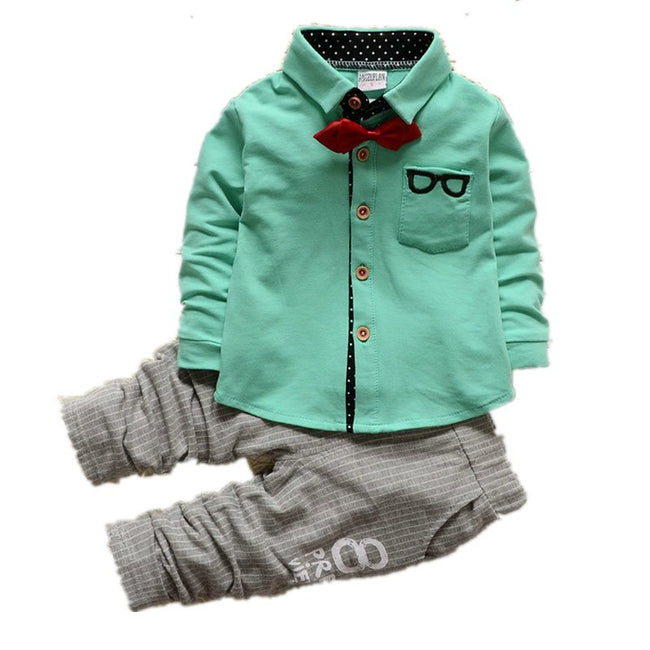 Baby boy two piece outfits in green up to 4 years-Fabulous Bargains Galore