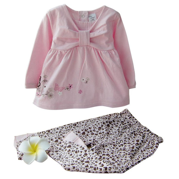 Cute Long Sleeve Pink Outfit for Girls