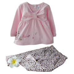 Baby Girl Toddler Cute Butterfly Infant 2pcs Outfit Set