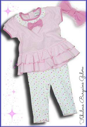 Short Sleeve Baby Girl Pink Outfit-Fabulous Bargains Galore