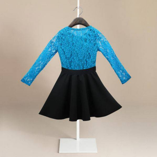 Baby Girls Toddler Lovely 2Pcs Summer Blue Lace Top Outfit Set