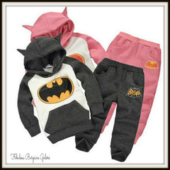 Batman Fleece Warm Winter Hoodie Sweatshirt and Pants Outfit
