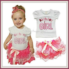 Cute Pink Birthday Outfit for Girls