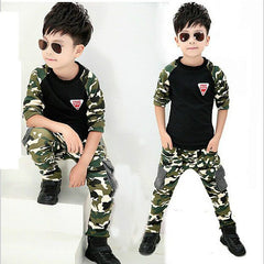 Warm Cool Boys Camouflage Outfits
