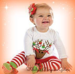 Long Sleeve Two Piece Girls Christmas Outfit-Fabulous Bargains Galore