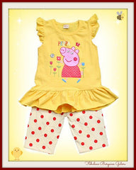 Yellow 2 Piece Girls Summer Outfit