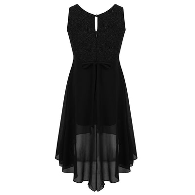 Sparkly party frocks for girls in black 6-14 years-Fabulous Bargains Galore