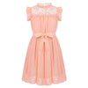 Party wear dresses for girl in apricot 4-14 year olds