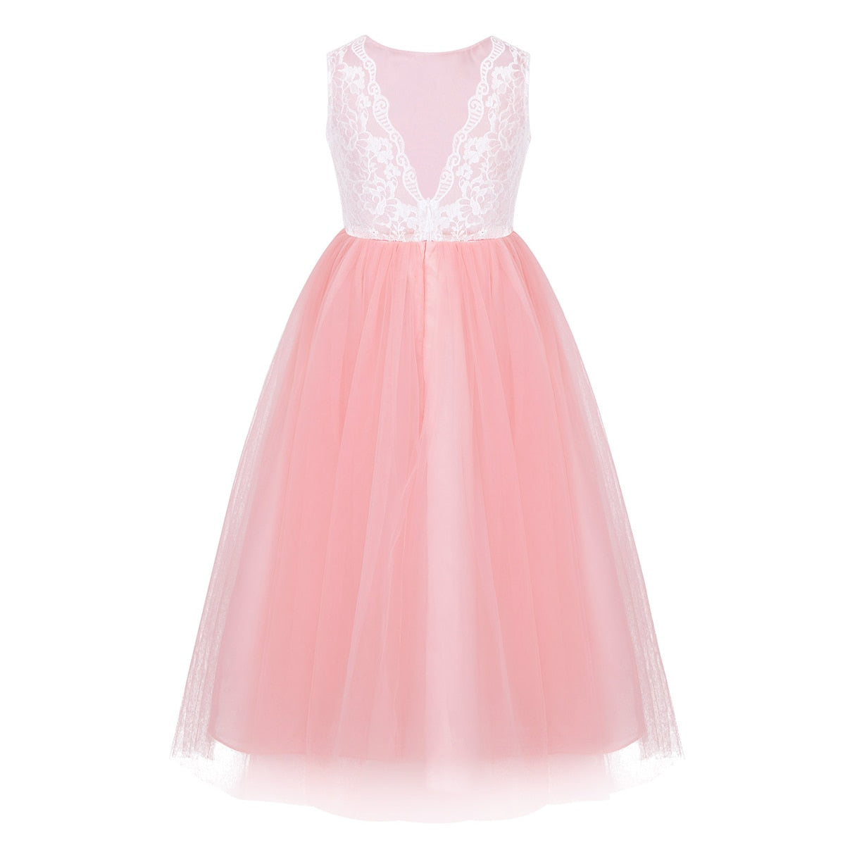 Pink and white flower girl dresses for 8 year olds