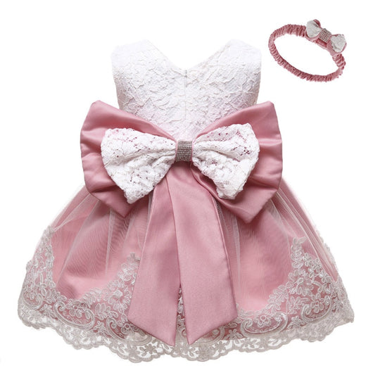 Pink party dress for 1 year old girls-Fabulous Bargains Galore