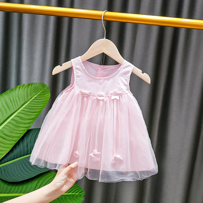 Pink birthday dress for baby girl-Fabulous Bargains Galore