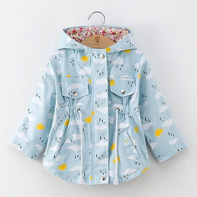 Blue lightweight girls lined jacket-Fabulous Bargains Galore