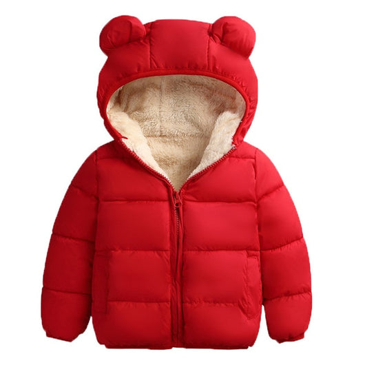 Warm red boys quilted jacket-Fabulous Bargains Galore
