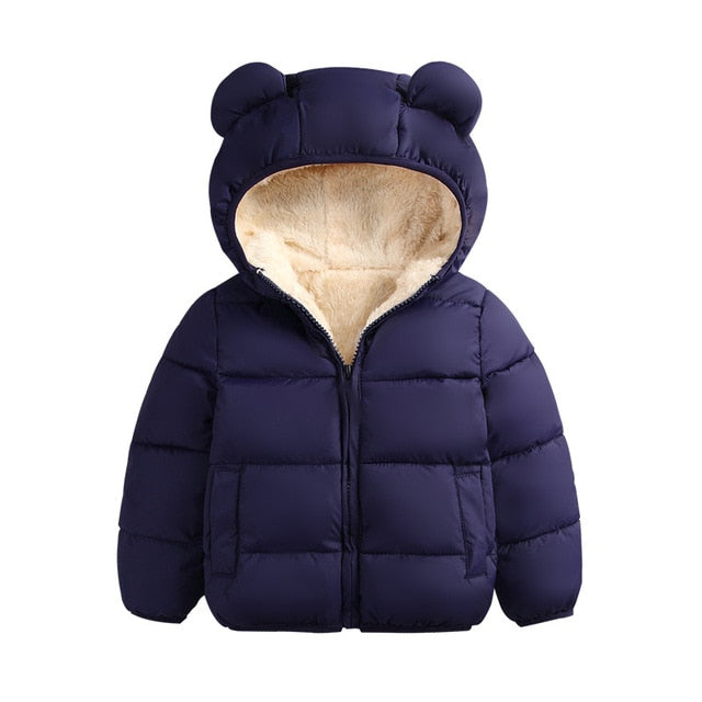 Toddler boy quilted jacket in navy up to 6 years-Fabulous Bargains Galore