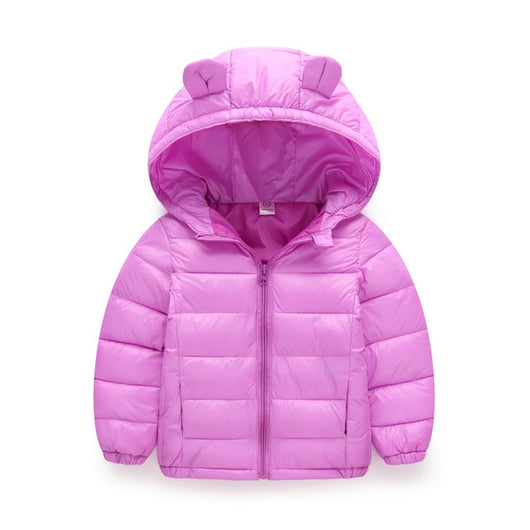 Warm purple girls puffer jacket-Fabulous Bargains Galore