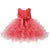 Crimson red toddler girl party dresses-Fabulous Bargains Galore