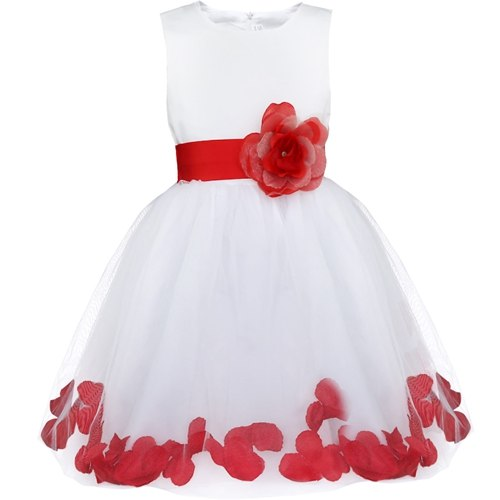 Cute red floral dress for kids-Fabulous Bargains Galore