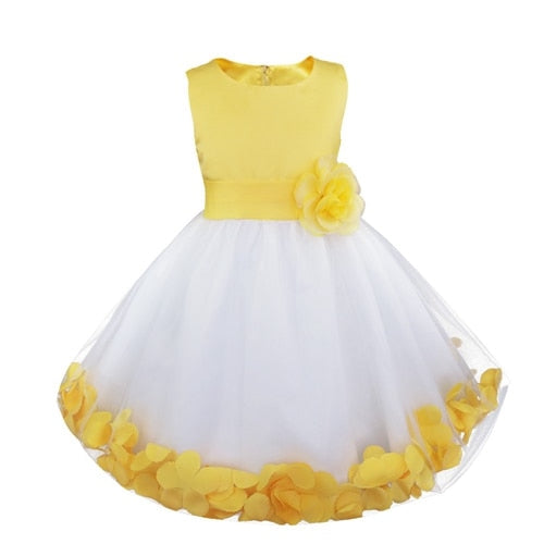 Cute yellow floral dress for kids-Fabulous Bargains Galore