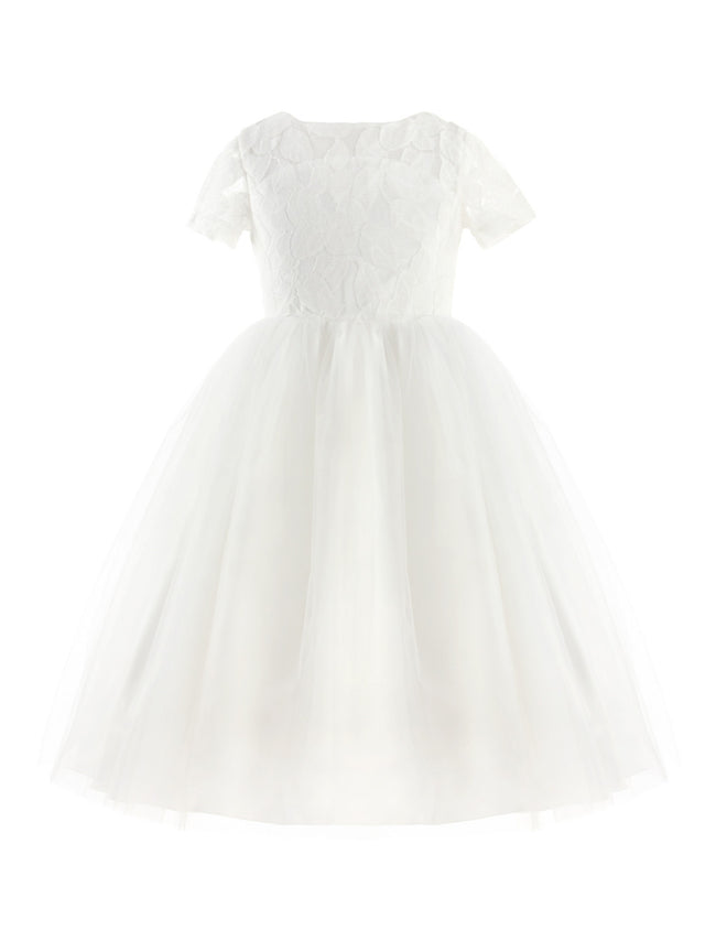 Flower girl dress with heart cut out up to age 14 years-Fabulous Bargains Galore