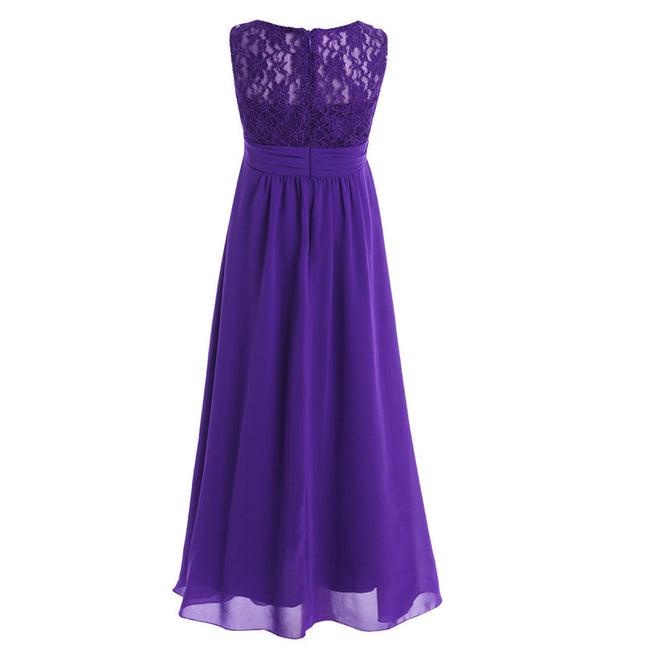 Regency purple flower girl dress up to age 14 years-Fabulous Bargains Galore