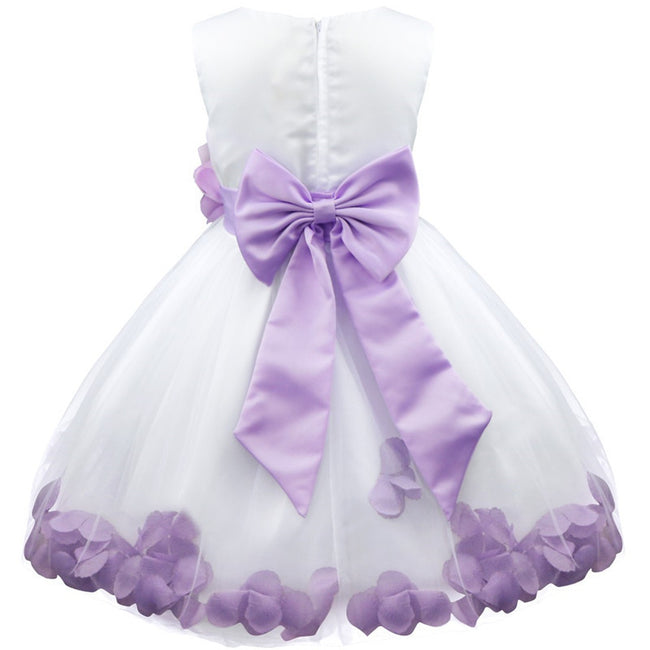 Lilac and white flower girl dress up to age 14 years-Fabulous Bargains Galore