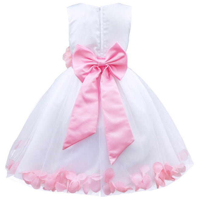 Petal pink flower girl dress up to age 14 years-Fabulous Bargains Galore