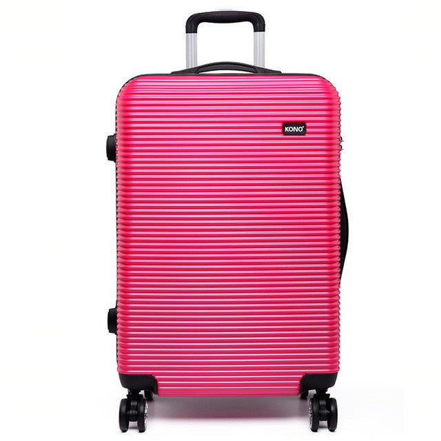 ABS Hard Shell Suitcase With 4 Wheel Spinners-Fabulous Bargains Galore