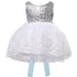 Sleeveless white girls sequin party dress-Fabulous Bargains Galore