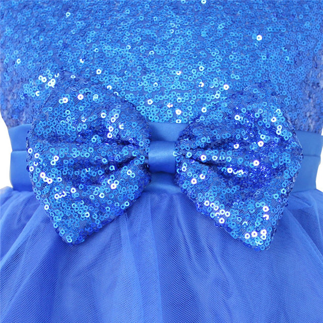 Girls blue sequin dress up to age 8 years-Fabulous Bargains Galore