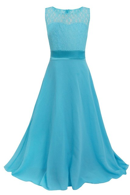Aqua blue flower girl dress up to age 14 years-Fabulous Bargains Galore
