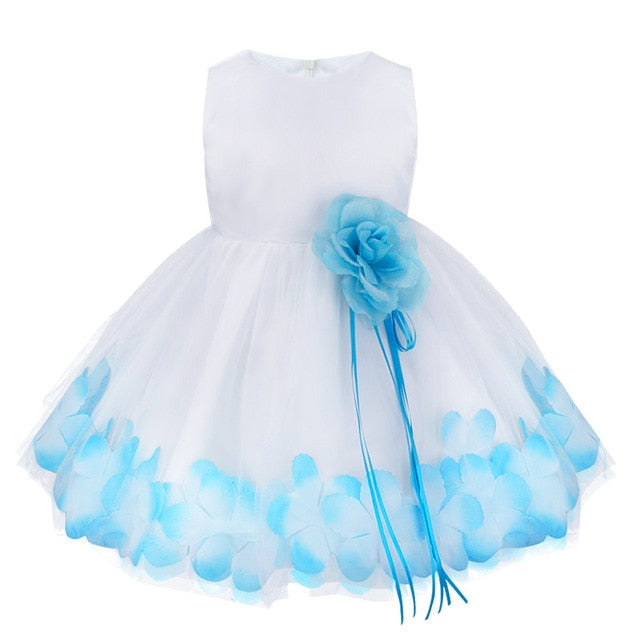 Blue sleeveless baby girl occasion dress-Fabulous Bargains Galore