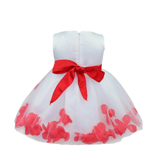 Red sleeveless baby girl occasion dress-Fabulous Bargains Galore