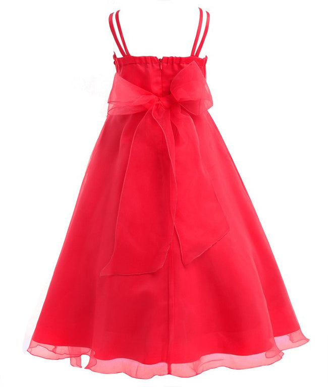 Organza ruffle flower girl dress up to age 14 years-Fabulous Bargains Galore