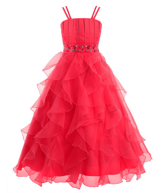Organza flower girl dress up to age 14 years-Fabulous Bargains Galore