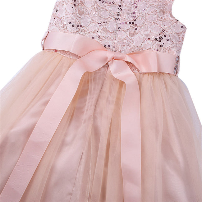 Blush sequin flower girl dress up to age 14 years-Fabulous Bargains Galore