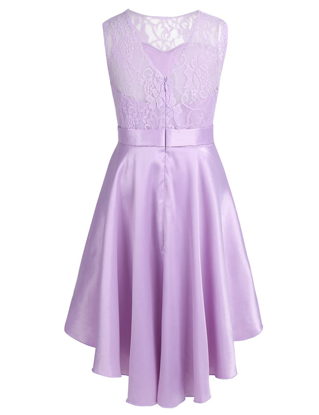 Lavender lace flower girl dress up to age 14 years-Fabulous Bargains Galore