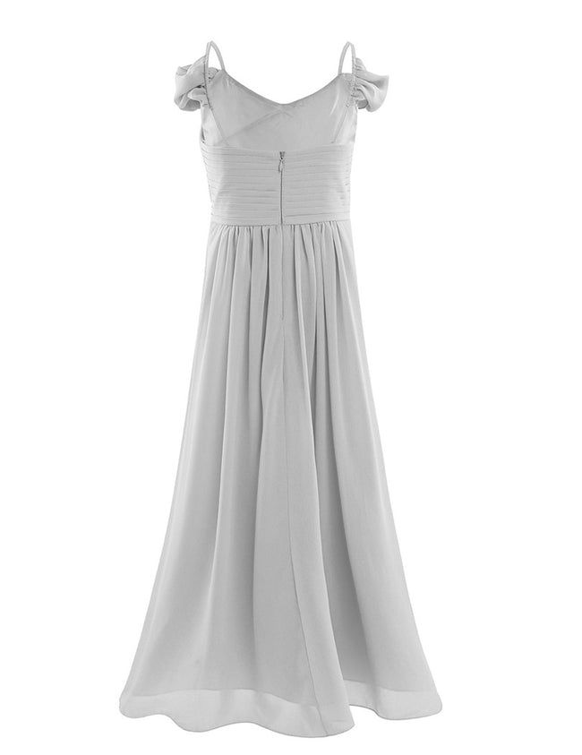 Silver grey flower girl dress up to age 12 years-Fabulous Bargains Galore